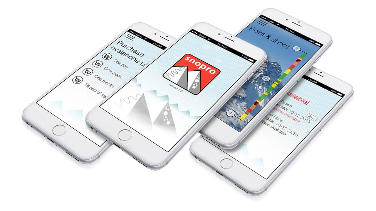 SnoPro app design