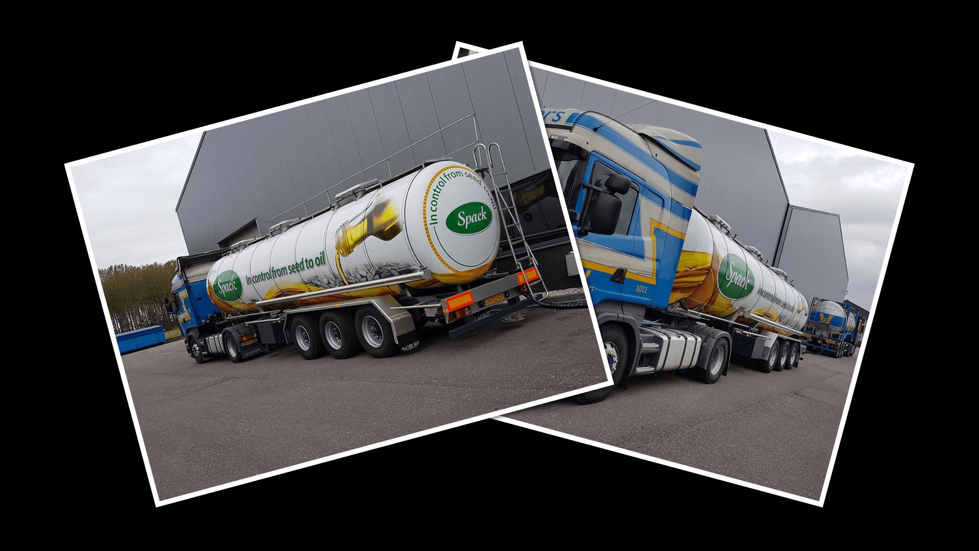 Spack BV vrachtwagentrailer signing